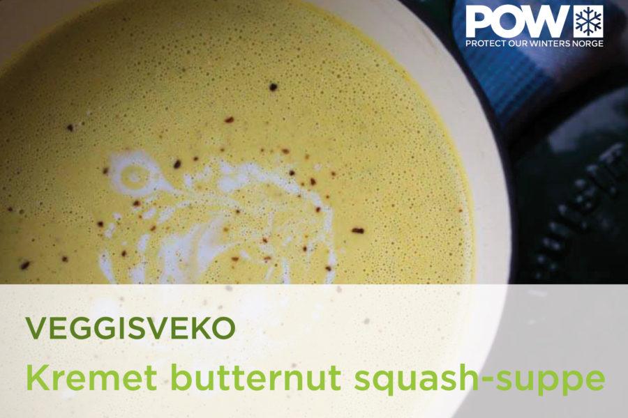 Veggisveko dag #1: Kremet butternut squash-suppe